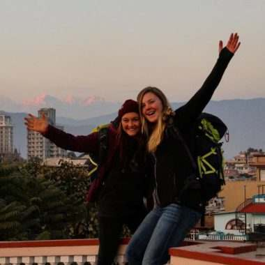 2016-12-19 #ospreyathlete and #ospreyambassadors @annewangler and @gabriellaedebo are currently in Nepal! Keep an eye out for the Instagram Stories
