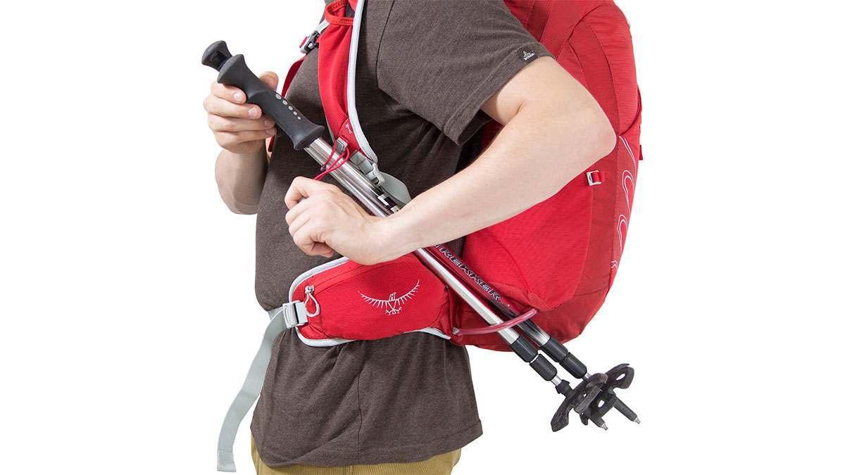 Stow-on.the-Go systém upevnění trekových holí na batoh Osprey Talon 22 S/M
