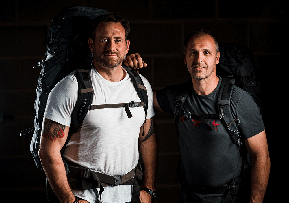 Jason Fox and his expedition partner, Sean Johnson